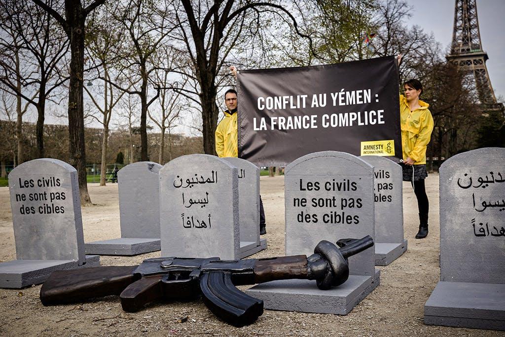 Action d'Amnesty International France à Paris © P-Y Brunaud