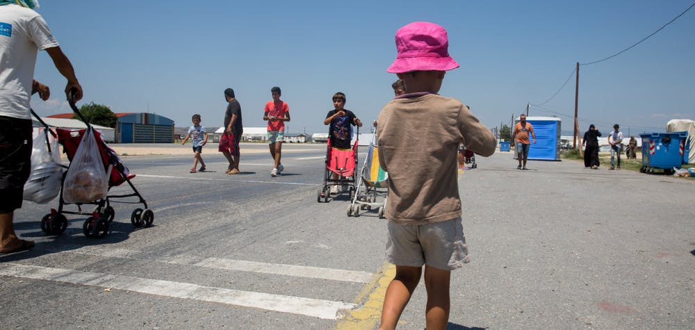 Des réfugiés bloqués en Grèce © Amnesty International (Photo: Richard Burton)
