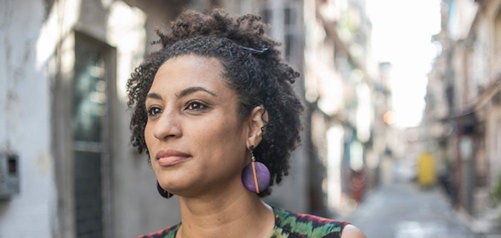 Brazilian human rights defender and Rio de Janeiro city councilor Marielle Franco.