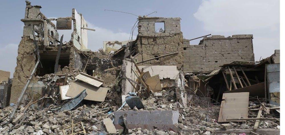 Des bâtiments civils détruits à Sa'da City / Yémen.