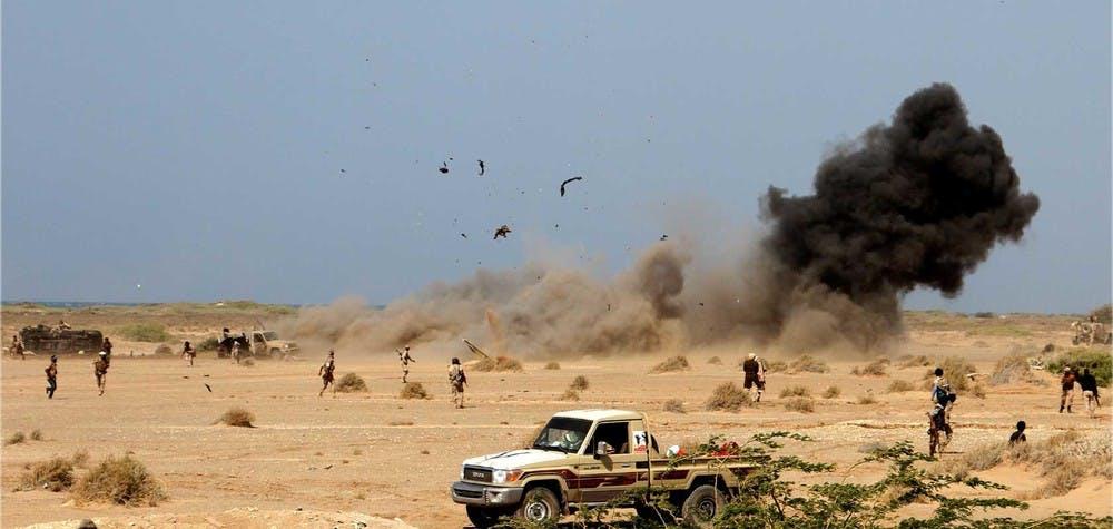 Explosion d'une mine, port de Mocha / Yémen. 20/01/2017