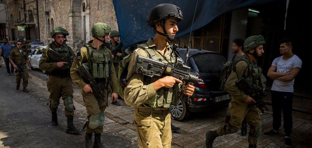 Des soldats israéliens à Hebron, 14/09/2017 © Amnesty International