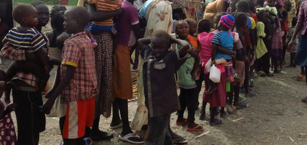 Camp de réfugiés de Malakal, où les conditions sont terribles. Mission au Sud Soudan, Mars 2014