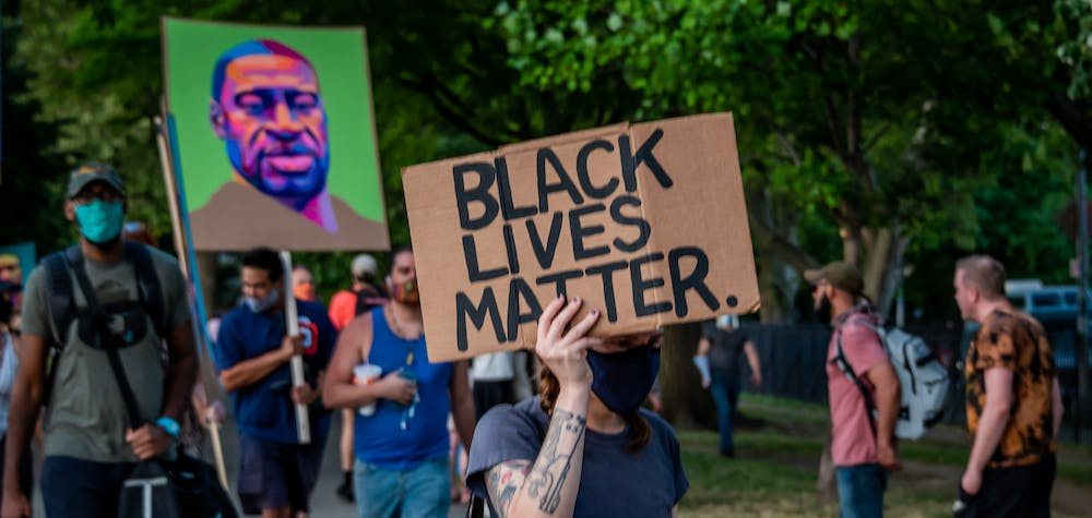Greenpoint residents gathered at McCarren Park on June 24, 2020 for a socially distancing rally and march, demanding justice for all victims of police brutality, making a call to defund the NYPD and invest in communities. (Photo by Erik McGregor/Sipa USA)No Use UK. No Use Germany.
