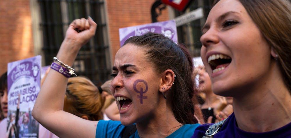Manifestation contre la violence faite aux femmes à Madrid en juin 2016.