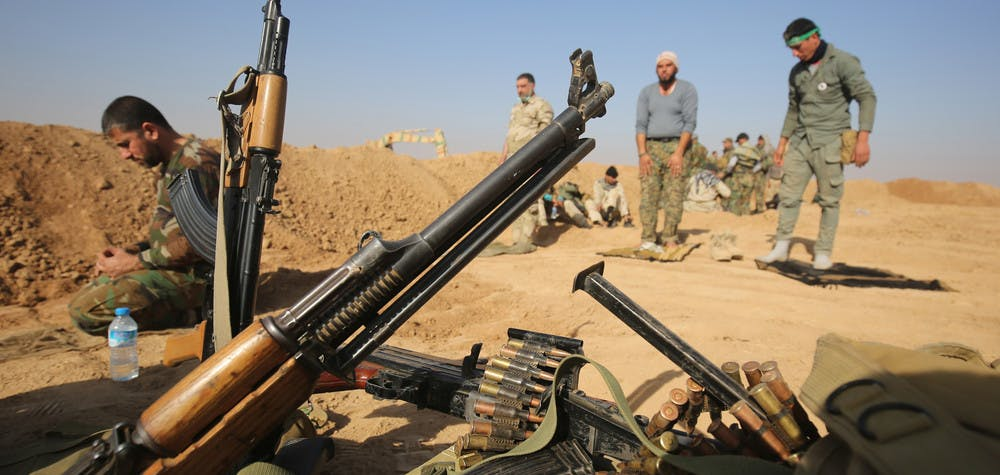 Iraqi Shiite fighters from the Hashed al-Shaabi © AFP/Getty Images
