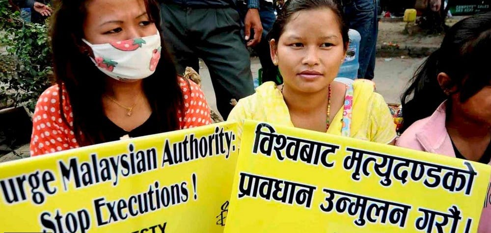Manifestation contre la peine de mort en Malaisie