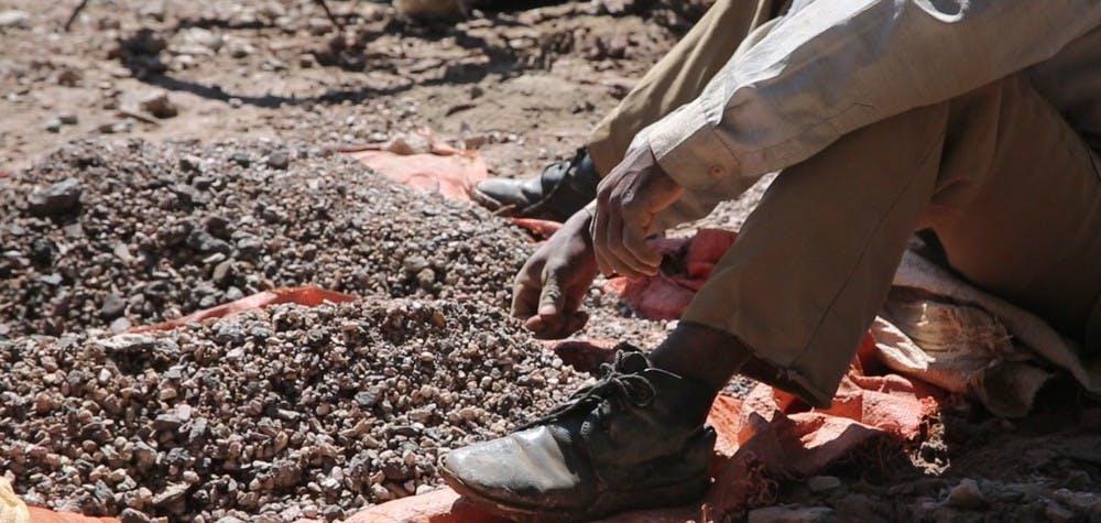 extraction artisanale de cobalt près de Kolwezi RDC