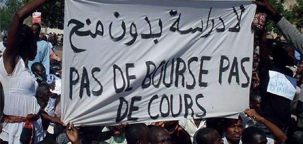 Manifestations d'étudiants contre la suppression des bourses, N'Djamena