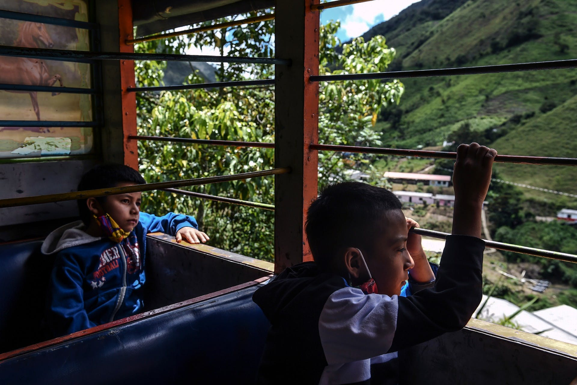 COLOMBIA - FARC - EVACUATION - TRANSFER - Photo by JOAQUIN SARMIENTO / AFP