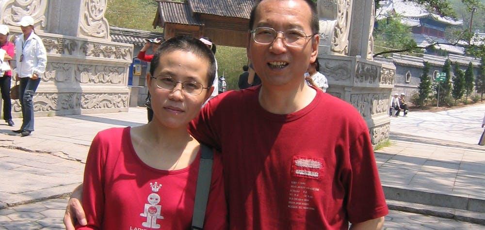 Liu Xia et Liu Xiaobo en 2005