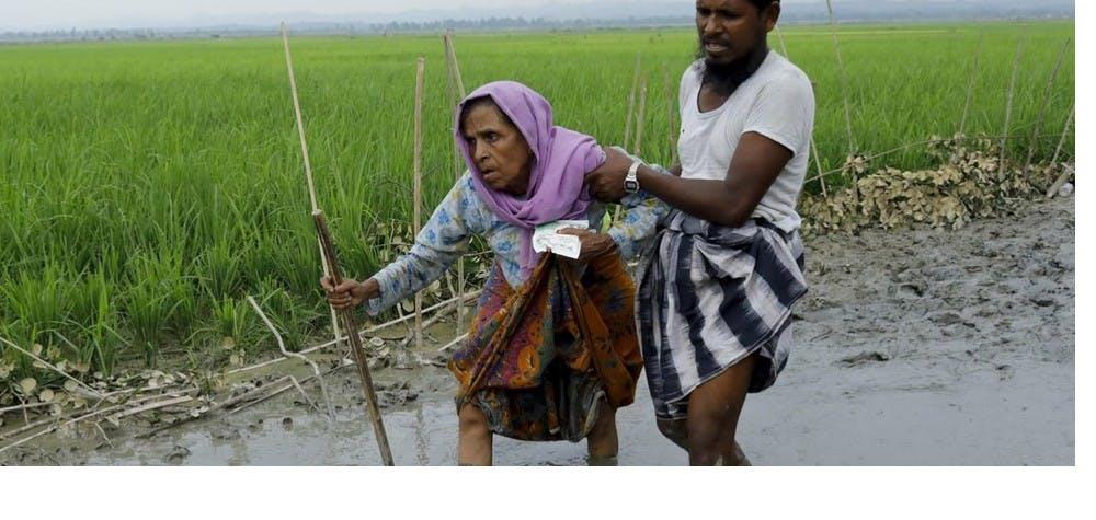 Réfugiés Rohingyas en fuite