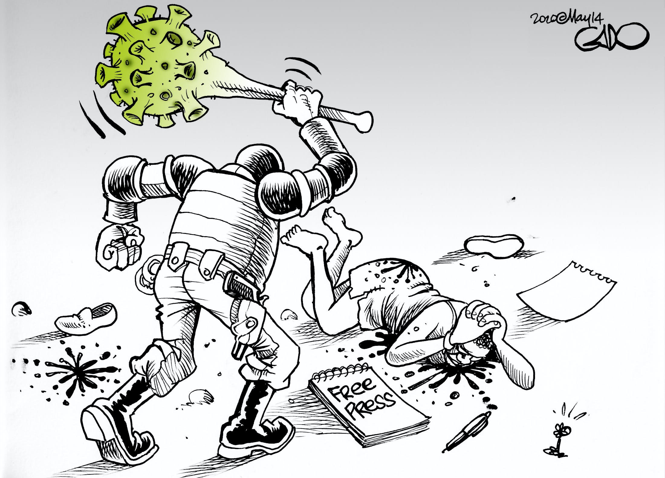 Gado - Kenya - dessin de presse - Cartooning for Peace