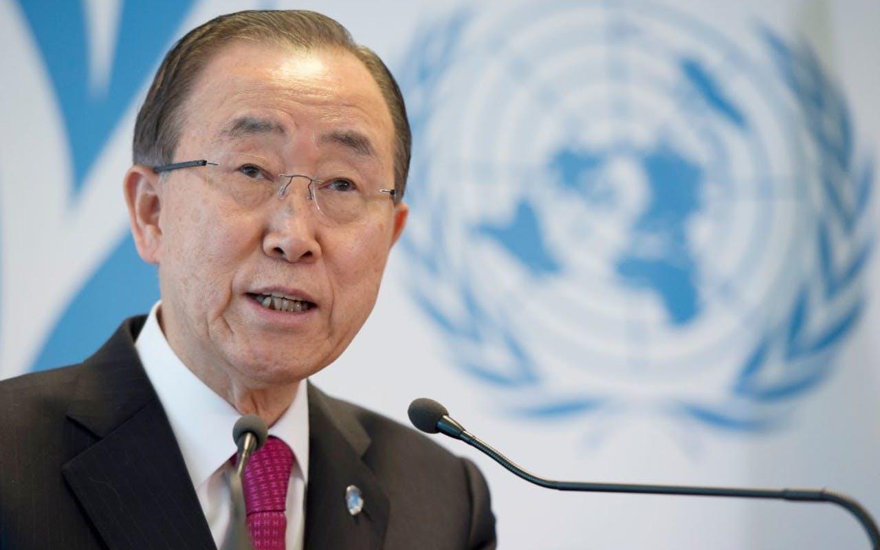 Secretary-General Ban Ki-moon Secrétaire général de l'ONU, réunion sur les réfugiés à Genève 30/03/2016