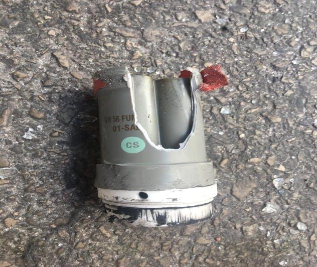 Grenade lacrymogène police