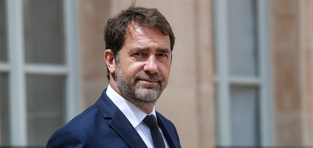 French Interior Minister Christophe Castaner leaves the Elysee Palace after attending the weekly cabinet meeting on June 10, 2020 in Paris, France. Ludovic Marin/Pool via REUTERS