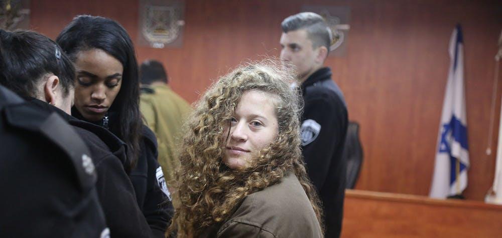 Ahed Tamimi, lors de sa présentation au tribunal ©  Getty Images