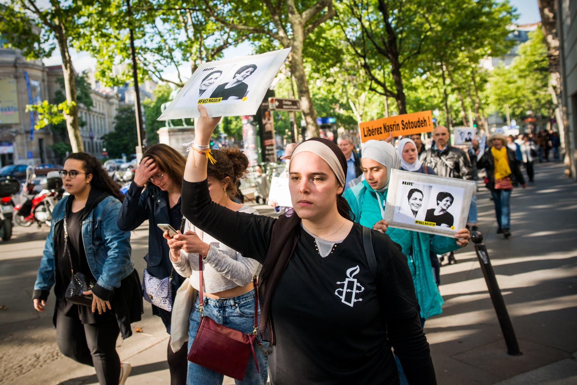 Manifestation pour la libération de Nasrin Sotoudeh