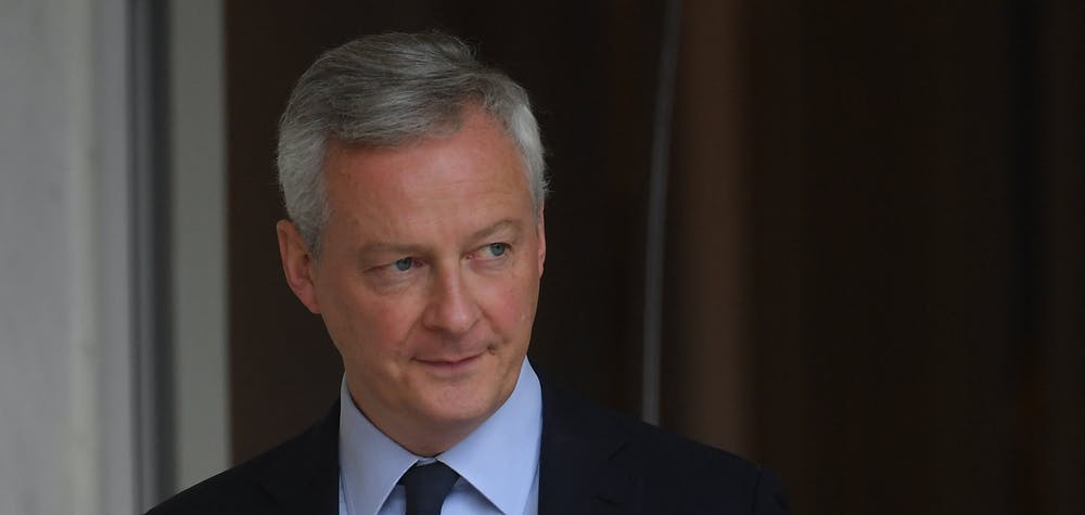 French Economy and Finance Minister Bruno Le Maire after the weekly cabinet meeting at the Elysee Palace in Paris, France on July 15, 2020. Photo by Christian Liewig/ABACAPRESS.COM