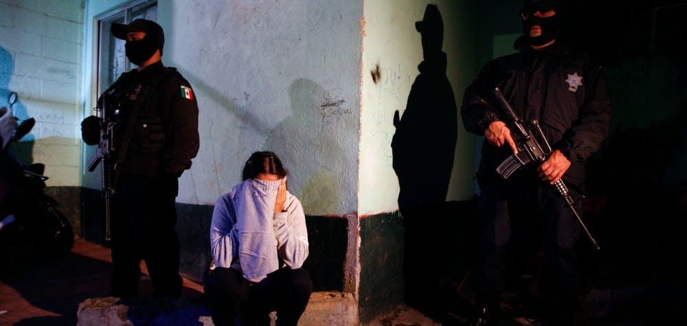 Arrestation d'une femme à Mexico