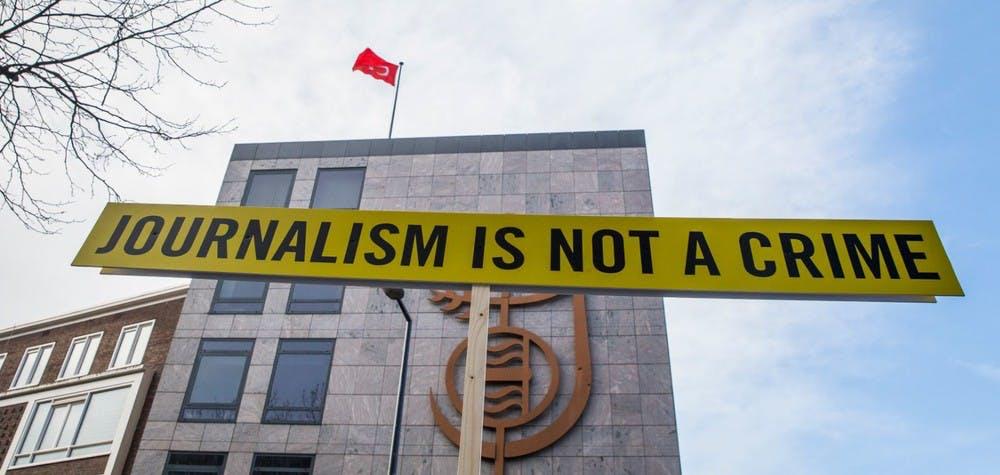 Action devant le consultat de Turquie à Rotterdam