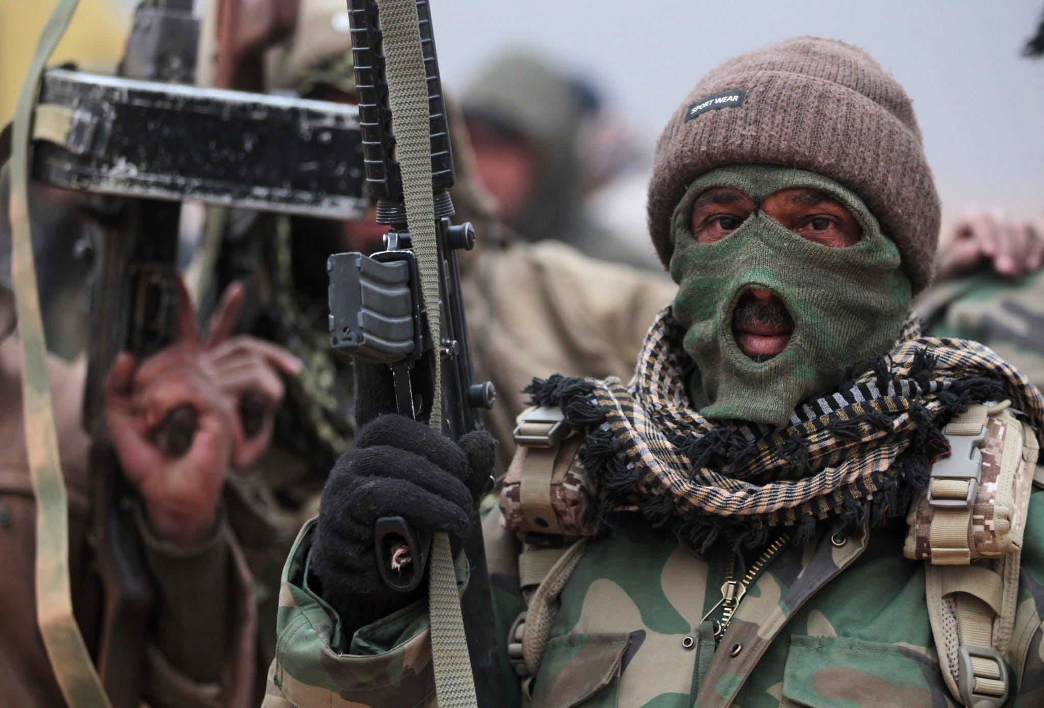 Milicien d'al-Shaabi, une des milices chiites en Irak  © AFP/Getty Images