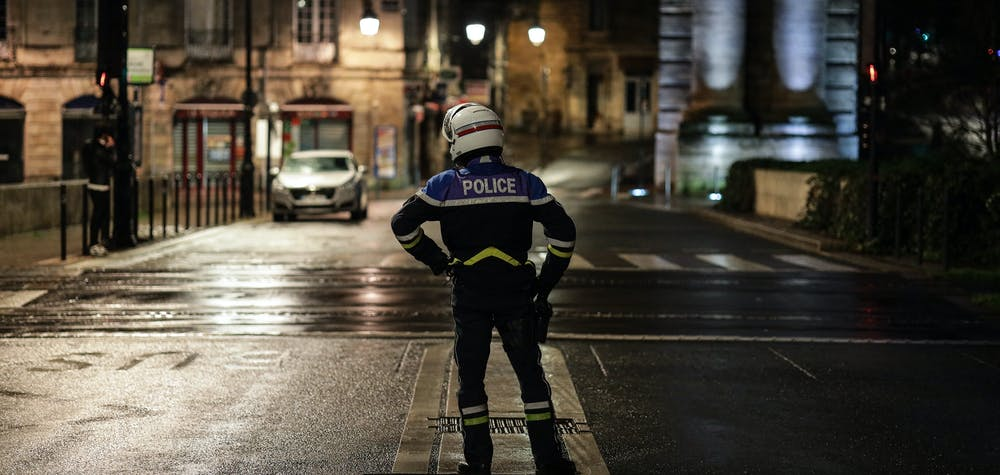 On the eve of New Year's Eve, police checks to check certificates during curfew hours are stepped up. This year, a curfew was introduced to prevent the spread of Covid-19 in France during New Year's Eve. In Bordeaux, December 30, 2020. Photo by Thibaud Moritz/ABACAPRESS.COM