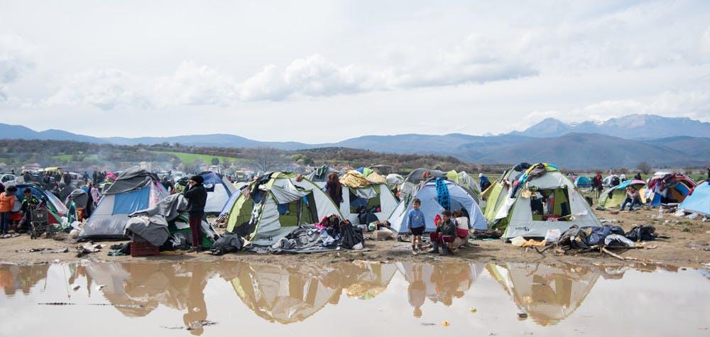 Réfugiés à Idomeni