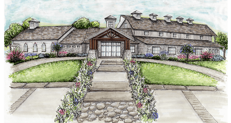 Artist's rendering of the new Highpointe Estate event venue.