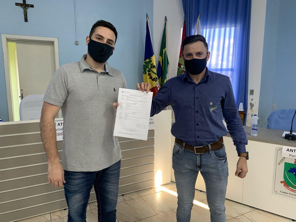 Assessores do gabinete recebidos pelo vereador Marcelo Brunetto