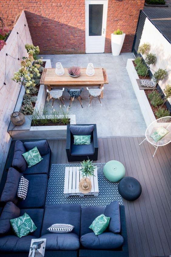 Vista en planta de una terraza