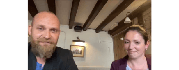 Mark Hornby (co-founder) and Julie Crump (COO) – Caviar & Chips catering