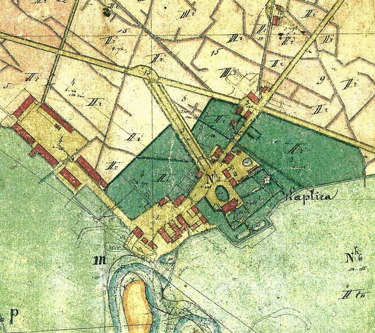 Seniausias Antanavo žemėlapis (1854 metai)