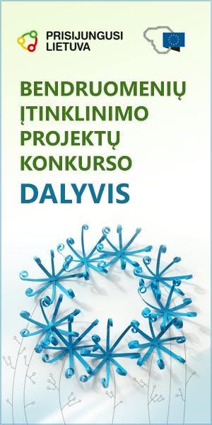 Prisijungusi Lietuva - Bendruomenių įtinklinimo projektų konkurso dalyvis