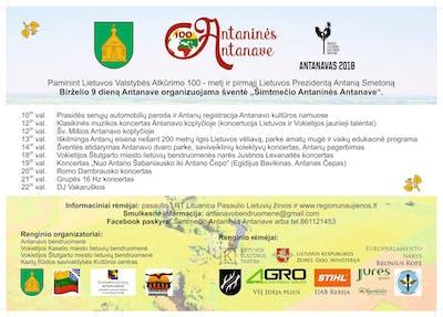 """Pasaulio lietuvių šventė """"Šimtmečio Antaninės Antanave"""""""