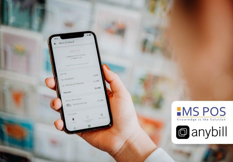 Digitale Kassenbons mit MS POS und anybill