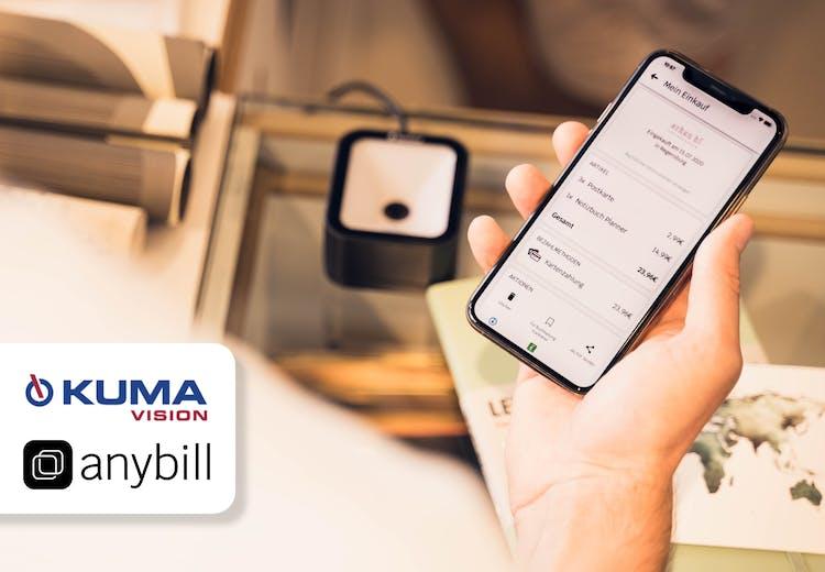 Retail-Software von KUMAVISION und anybill ermöglichen digitale Kassenbons direkt auf das Smartphone