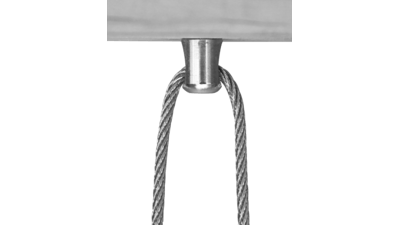 Stainless Timber Eyelet in Timber