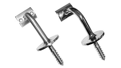 Stainless Handrail Wall Support with Woodscrew