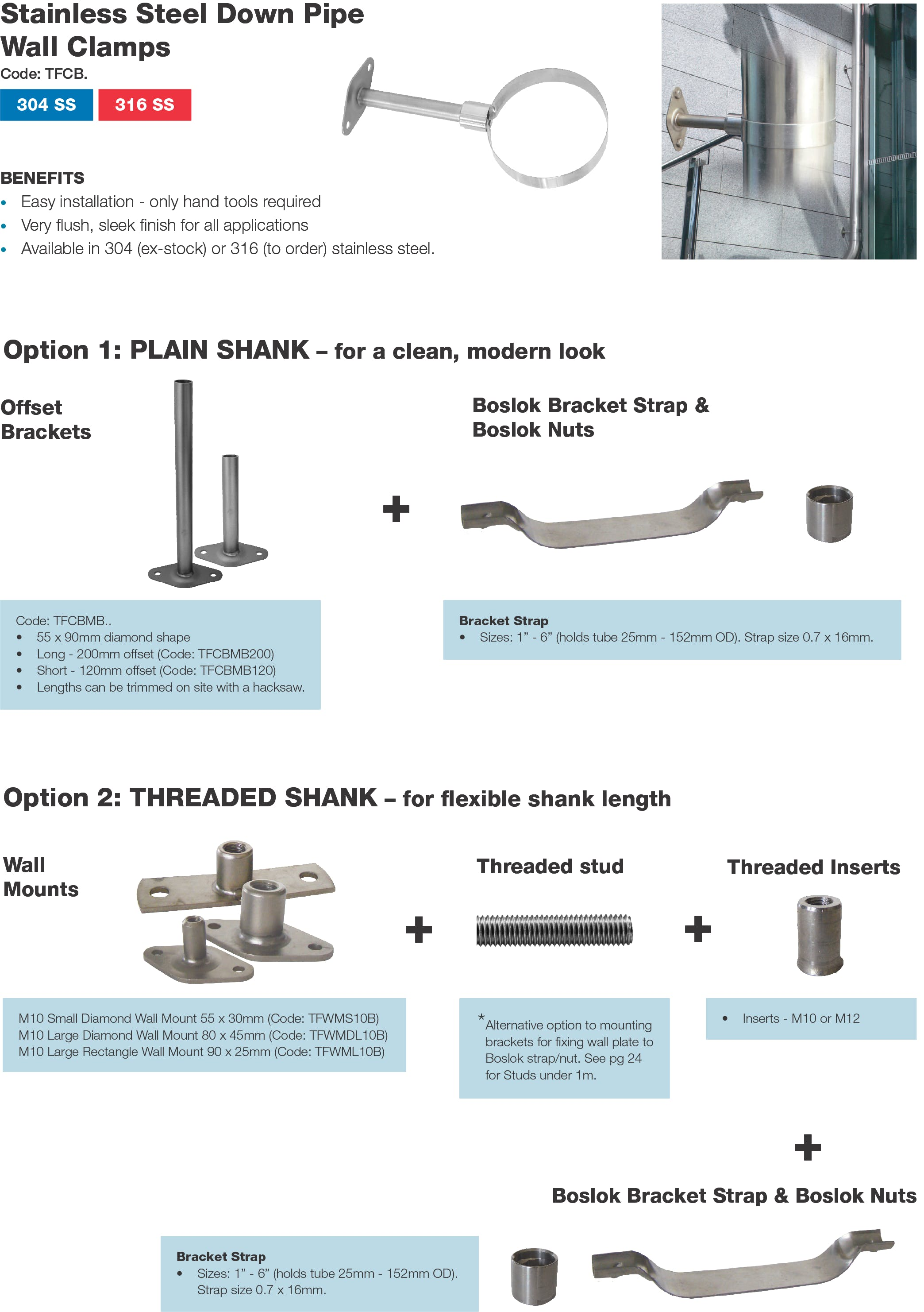 Stainless Downpipe Options