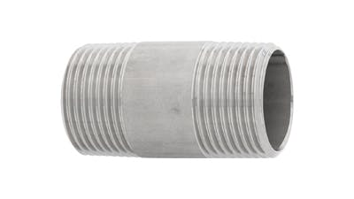 Stainless BSP and NPT Barrel Nipple