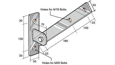 BS145 Bowmac Stainless Bracket