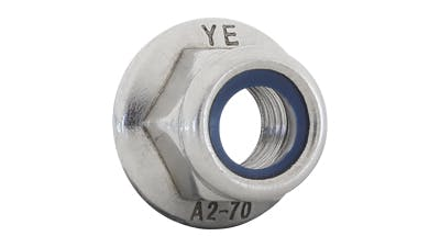 Stainless Steel Flanged Nylon Lock Nuts