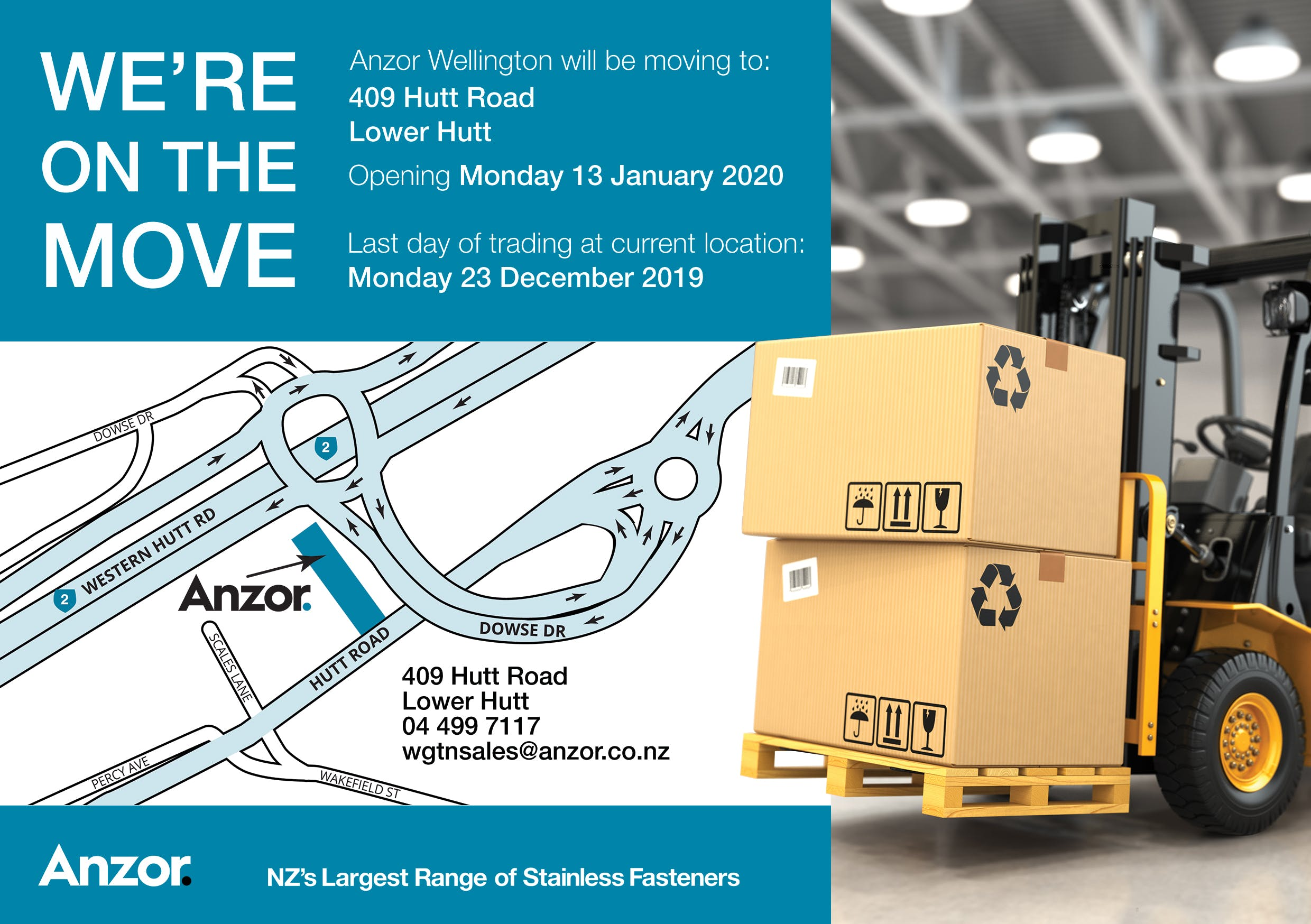 Our Wellington Branch is Moving!