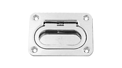Stainless Large Rectangle Spring Lift Handle