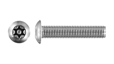 Stainless Button 6 Lobe with Pin Machine Screw