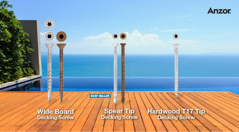 Anzor Fasteners Stainless Decking Screws