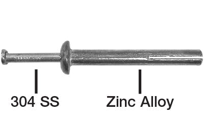Stainless and Zinc Alloy Pin Anchors
