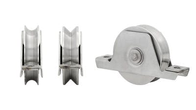 Stainless U and V Shaped Gate Rollers