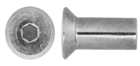Stainless Csk Socket Barrel Nut